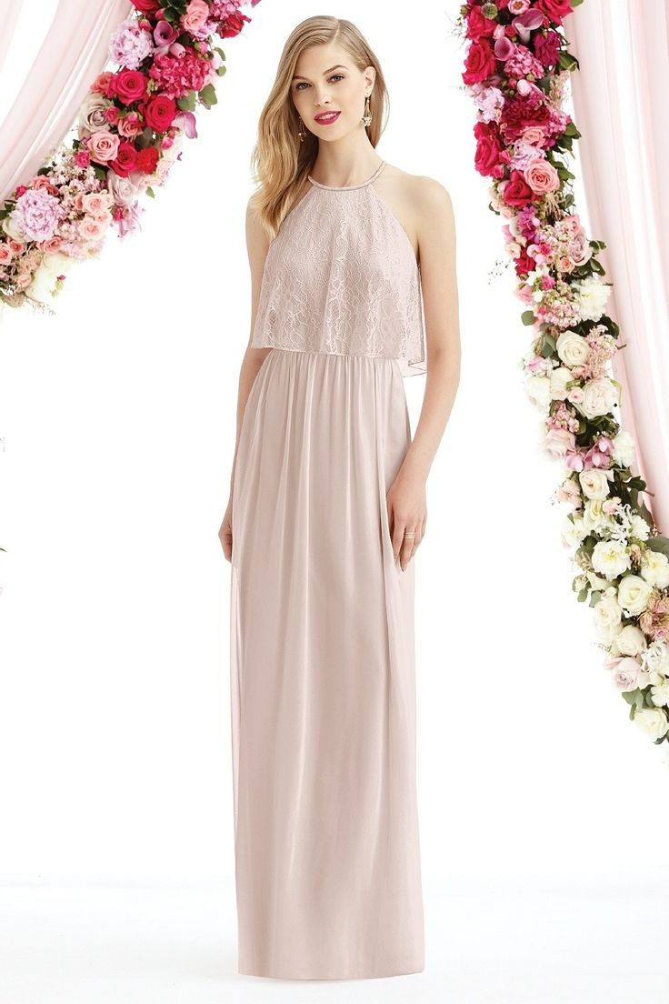 49 best social bridesmaids by dessy images on pinterest fashioned in lux chiffon this halter neck after six 6733 bridesmaid dress features a florentine lace overlay bodice with lace back the full length a line ombrellifo Images