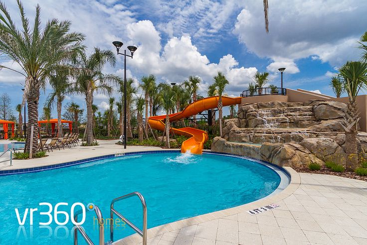 Solterra Resort, Florida - Clubhouse Pool Water Slide. http://www.vr360homes.com/north-america/florida/disney-orlando-villas/solterra-resort/