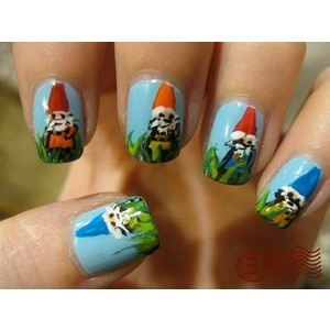 gnome nail art, love it!