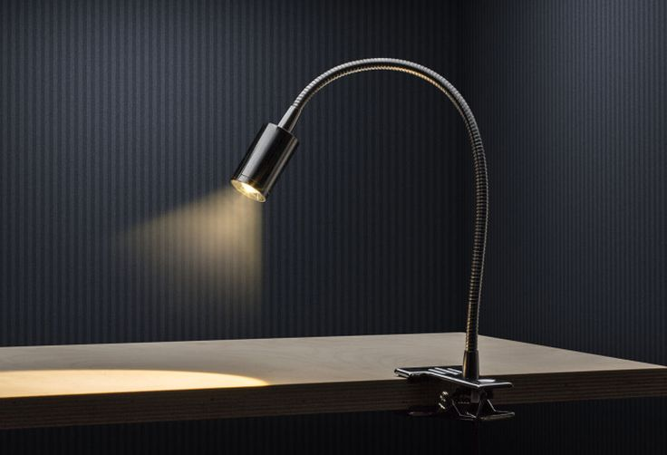 VERSA ON A CLIP   rendl light studio   LED spotlight on a goose neck. Can be attached to a desk with the maximum thickness of 2,5 cm. #lights #interior #spotlights #LED