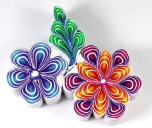 polymer clay quilled flower #Polymer #Clay #Canes