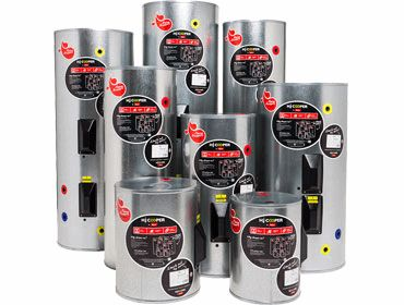 HJ Cooper Enamel Mains Pressure Hot Water Cylinders