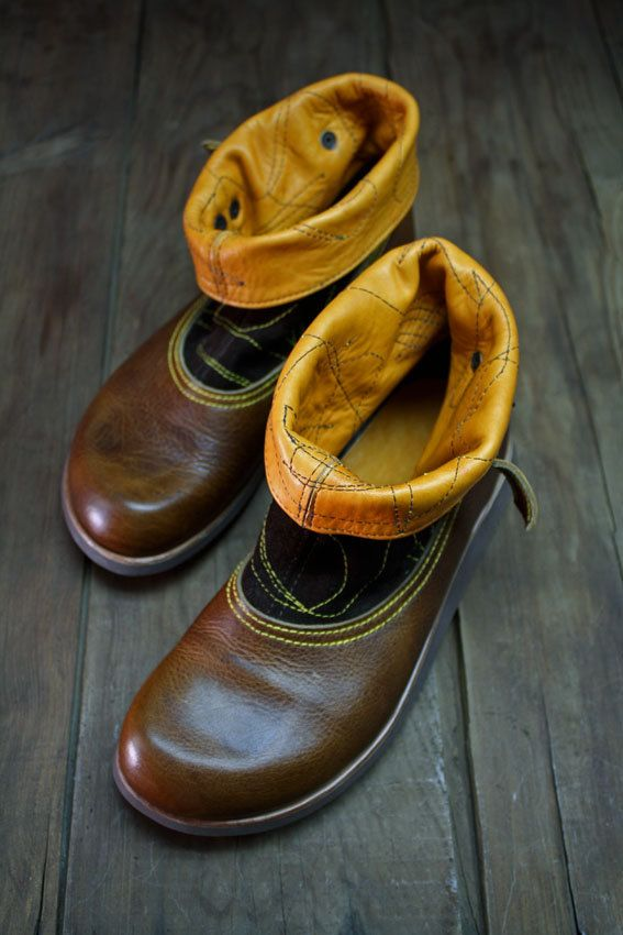 MACHADO BOOTS/ dandy boots - unique handmade boots made with three different but very soft and resistant cow leathers