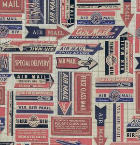 Eclectic Elements - Correspondence I - Air Mail Red