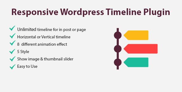Flik Timeline -  Wordpress Responsive Timeline Plugin is an advanced WordPress timeline plugin that your life history or your company's story in a responsive vertical chronological order based on the year and the date of your posts.