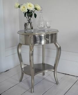 Silver Bedside Table (nightstand)