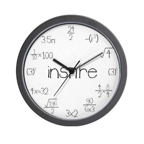 Math Clocks Wall Clock by inspiremath