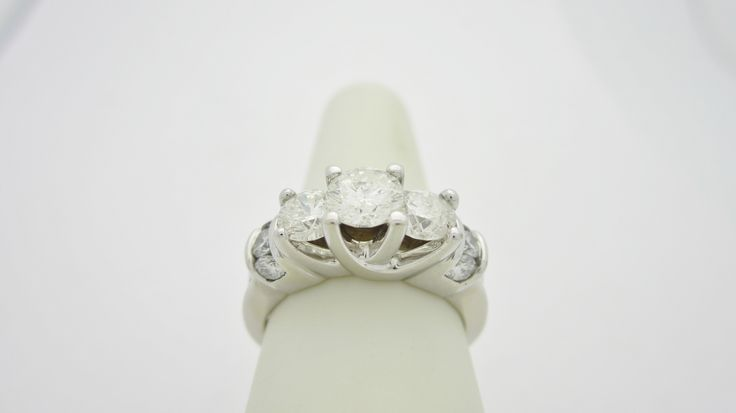 14k White Gold  2.0ctw  Natural Diamond Engagement Ring Check out our eBay store stores.ebay.com/newbeginings10