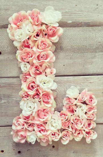 Gorgeous floral monogram