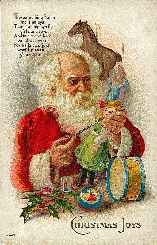 Santa Claus at work : ca.1900 - it's true! My dad IS Santa Claus!