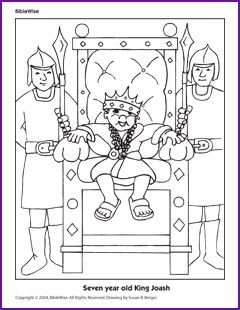 Two coloring pages king joash children 39 s ministry for Josiah coloring page