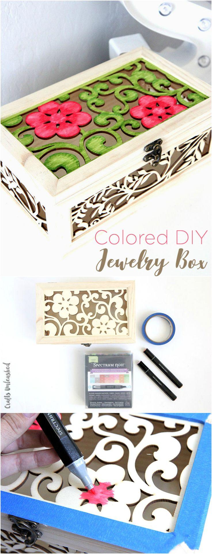 Colored Wood Jewelry Box