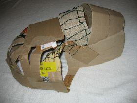 Constructing a foam vivarium hide