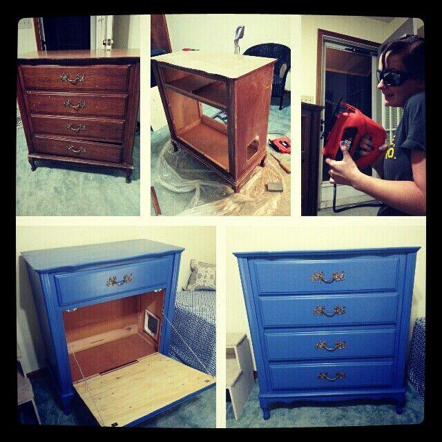 transformer une vieille commode en meuble liti re inspiration id es d co am nagement. Black Bedroom Furniture Sets. Home Design Ideas