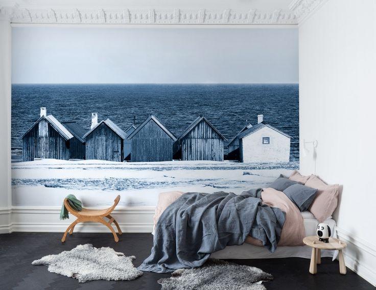 Behang nautisch Boathouse Blues bij LIVING-shop.eu behang webshop http://www.living-shop.nl.rw.nu bij LIVING-shop.eu behang webshop online