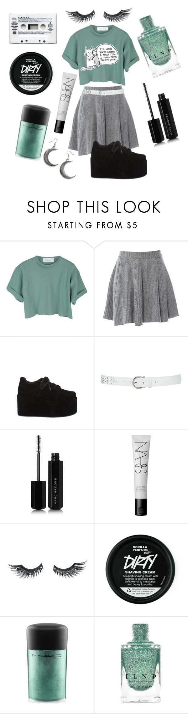 """Song to say goodbye"" by violenceinsilence ❤ liked on Polyvore featuring StyleNanda, American Retro, M&Co, Marc Jacobs, NARS Cosmetics, Napoleon Perdis, Veras and MAC Cosmetics"