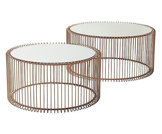 Couchtisch Set Wire 2 Tlg Kupferfarben Coffee Table Copper Coffee Table 2019 Table Laptop Table