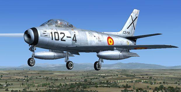 FAE Sabre F86,North American F-86 Sabre, es el primer cazabombardero a reacción que ostenta la Cruz de San Andrés. Un avión, punta de lanza para la defensa