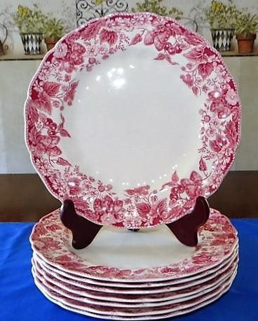 Set of 8 Beautiful Johnson Brothers Bros. Strawberry Fair 10  Dinner Plates & 200+ best Old China Patterns images on Pinterest | Turkey plates ...
