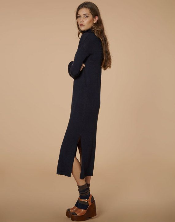 edt. Rollneck Midi Dress