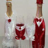 украшение бутылок Жених Невеста