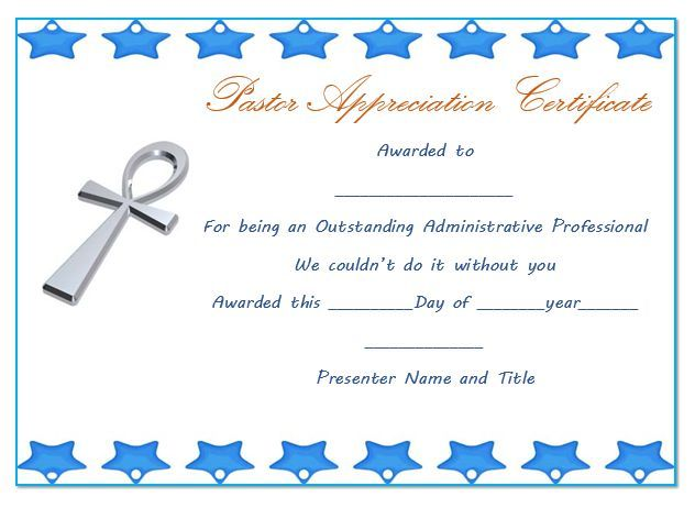 21 best Pastor Appreciation Certificate Templates images on - anniversary certificate template