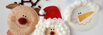 Preiswert, aber wirklich super toll! Die schönsten Weihnachts-Kunstwerke mit Papptellern für Kinder.