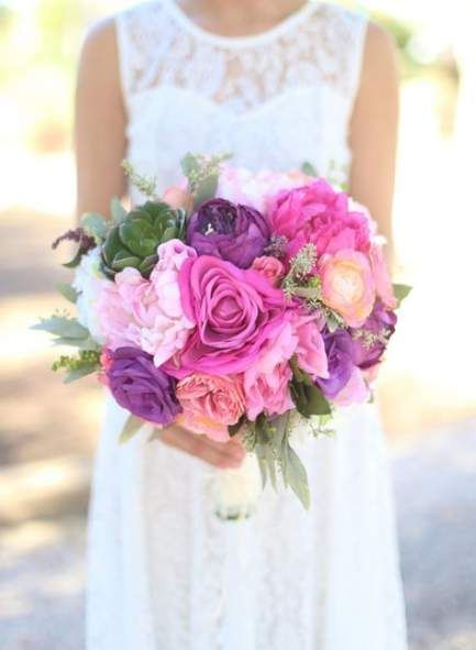 Wedding purple bouquet shabby chic 38  ideas – Outdoor Wedding Ideas