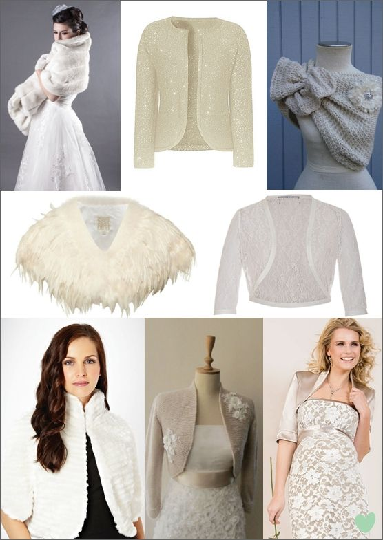 winter bridal shrugs boleros and wraps mood board