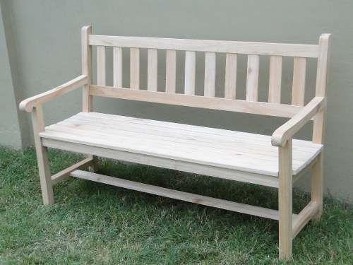banco exterior de jardin de madera de 1,50 de largo
