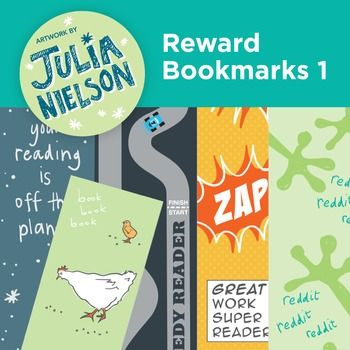 This set of reward bookmarks include 5 fun bookmarks for primary age students. All you have to do is print the A4 high quality PDF file onto card or print onto regular paper, trim and then laminate. Give the bookmarks to your students to reward their reading.