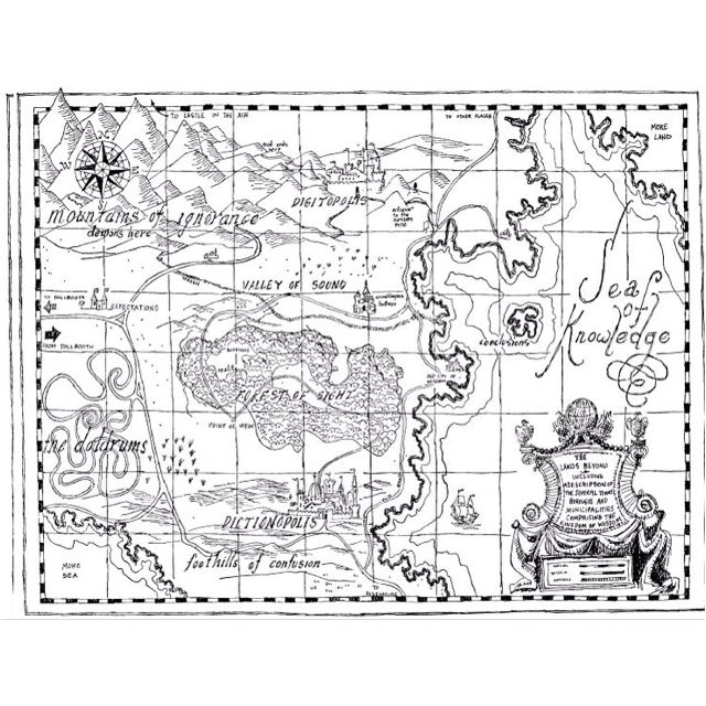 The Phantom Tollbooth I need this map in a frame.  :)