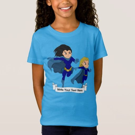 Custom superhero girls cartoon T-Shirt