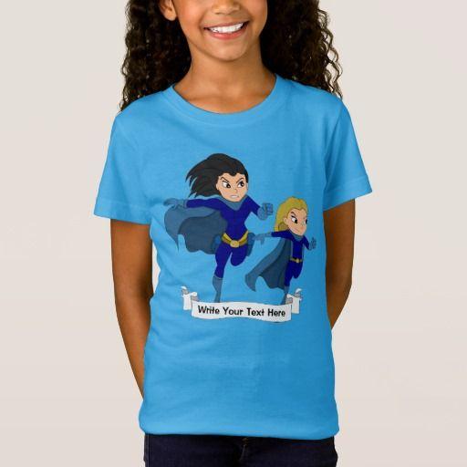 Custom superhero girls cartoon T-Shirt