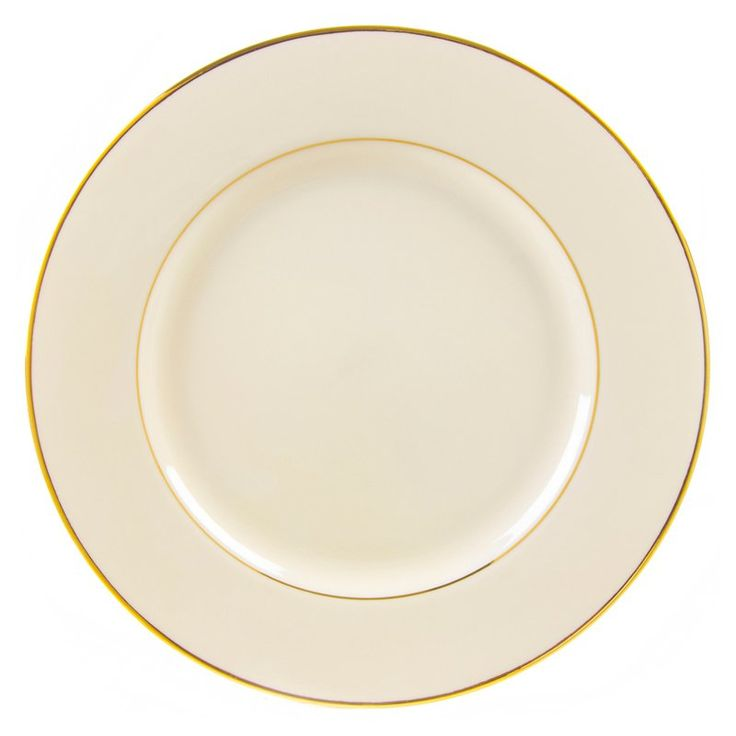 10 Strawberry Street Cream Double Gold Salad and Dessert Plates - Set of 6 - CGLD00046