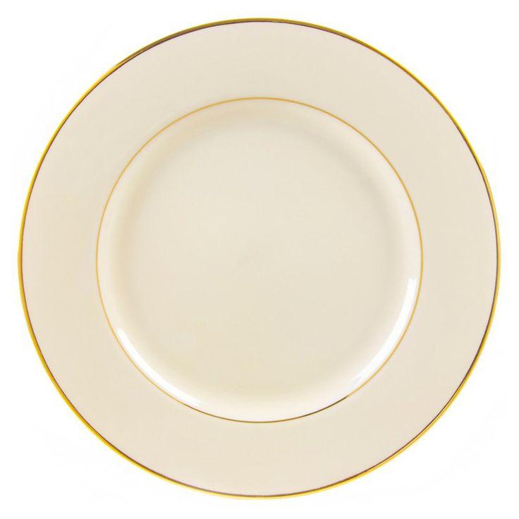 10 Strawberry Street Cream Double Gold Salad and Dessert Plates - Set of 6 - CGLD00046
