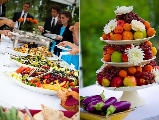 Buffet Style Wedding Reception | ... Wedding Inspiration: Rustic Country Wedding With A Cool Color Palette