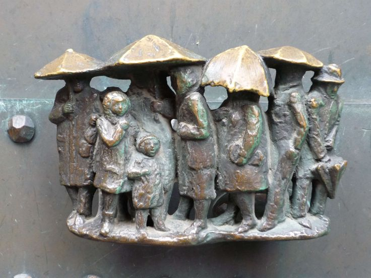 """""""Out of the Rain"""" Door Handle in Poland."""