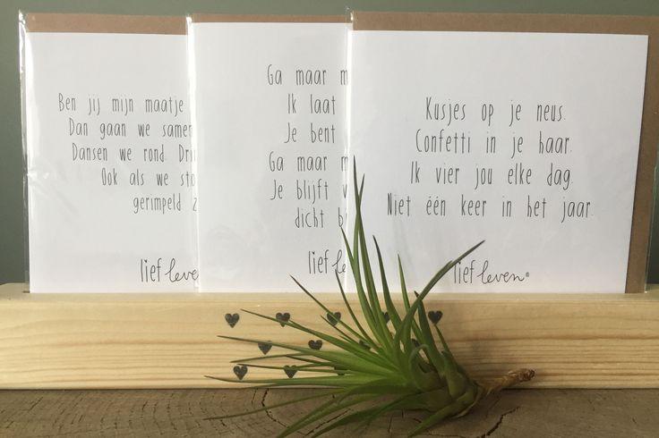 Wenskaarten - Lief Leven
