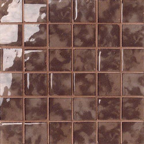 #Settecento #Musiva Mogano 4,5x4,5 on grid 28,6x28,6 cm 100185   #Glas on ceramic   on #bathroom39.com at 156 Euro/sqm   #mosaic #bathroom #kitchen