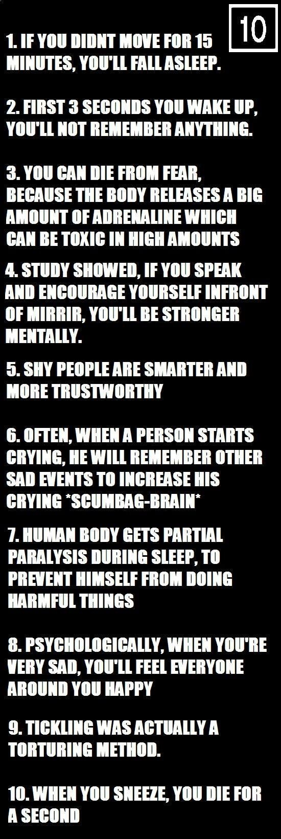 10 Psychological Facts.