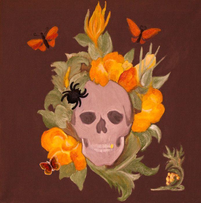skull/acryl//canvas.