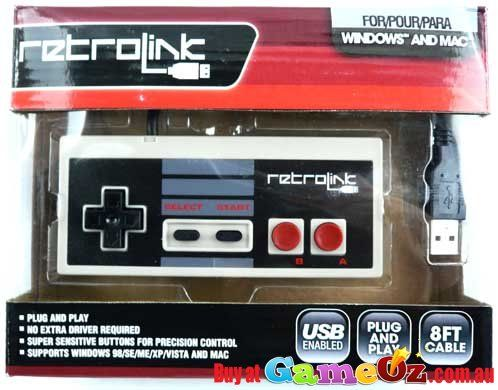 Retro+Link+NES+controller+for+PC+or+MAC+1+New+USB+Retro+NES+style+controller+for+PC+or+MAC+computers,+just+plug+n+play,+no+software+required.+High+Quality+third+party+USB+controller+looks+and+feels+just+like+the+original+NES+Controller,+great+for+playing+retro+style+games+on+your+computer.