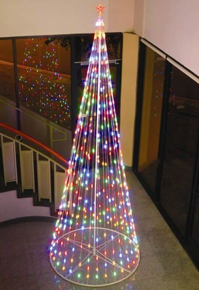 Cone Tree Lighted Display Christmas in a Tiny House Pinterest