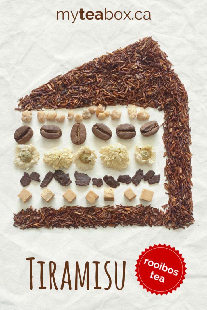 Tiramisu, a rooibos tea blend from myteabox.ca.