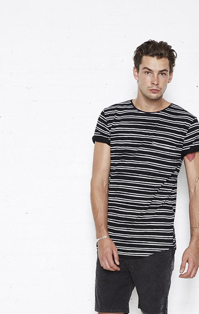 nana judy - Early Bird Tee Black/White Stripe