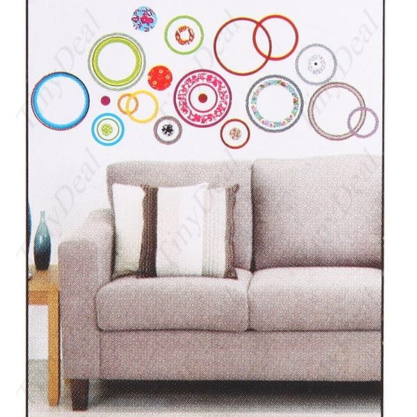 DIY Self-Adhesive Removable Wall Sticker Decal Wallpaper House Interior Decor - Circles Large Size HDS-41667