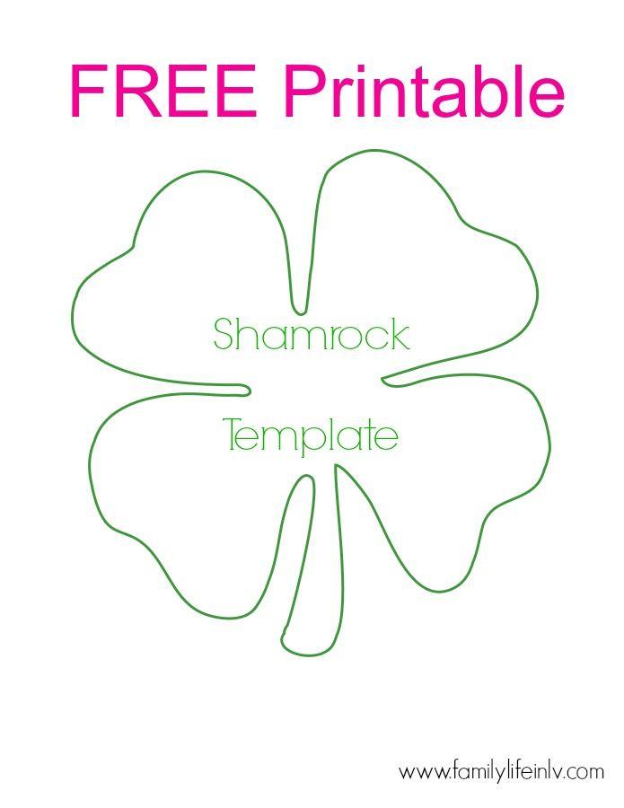 Free Shamrock Printable - for super fun shamrock crafts for kids! Our Knight Life #FreePrintable