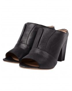 J. Shoes Black Betsy Leather Mules