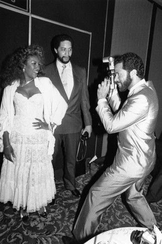 Mary Wilson being photographed by Philip Michael Thomas